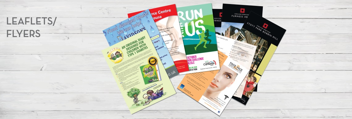 Leaflet and Flyer printing and design in Carlisle, Cumbria