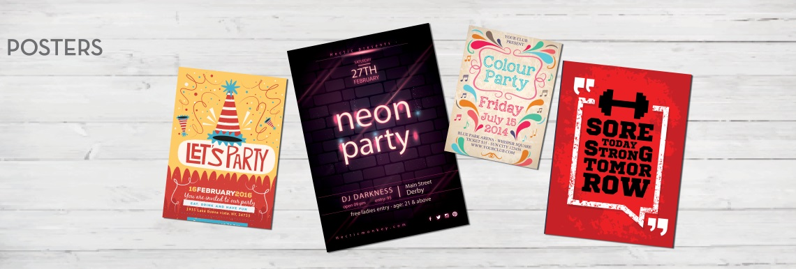 Poster printing and design in Carlisle, Cumbria